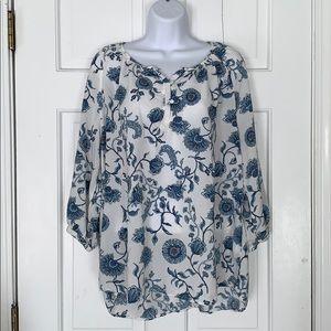 Anne Carson Floral Boho flowy blouse
